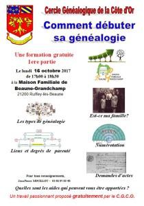 Formation généalogie Ruffey