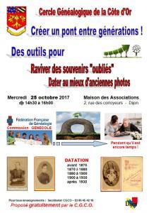 Affiche Photos - souvenirs & datation