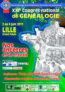 Affiche Congrès de Généalogie de Lille 2011